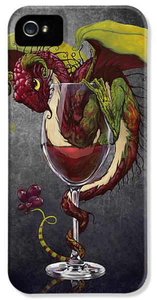Dragon iPhone 5 Case - Red Wine Dragon by Stanley Morrison