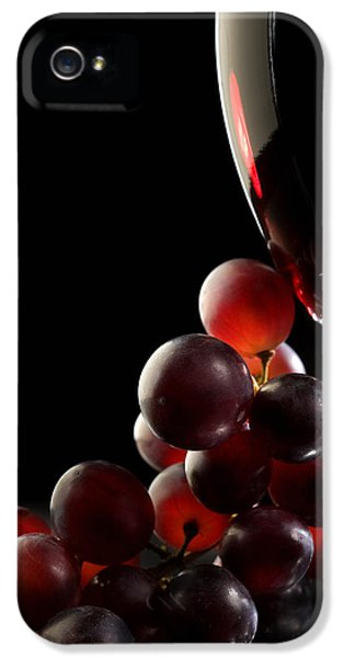 Red Wine With Grapes IPhone 5 Case