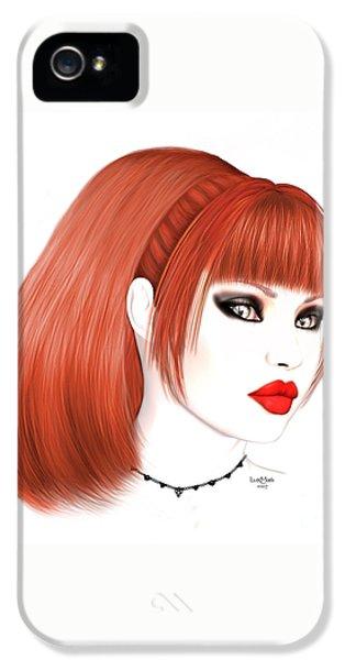 Redhead Cassia IPhone 5 Case by Renate Janssen