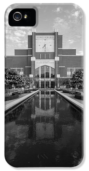 Reflecting Pond Outside Of Oklahoma Memorial Stadium IPhone 5 Case by Nathan Hillis