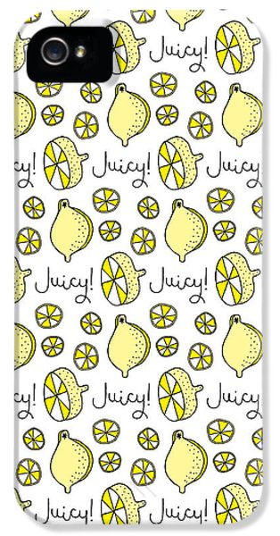 Repeat Prtin - Juicy Lemon IPhone 5 Case by Susan Claire