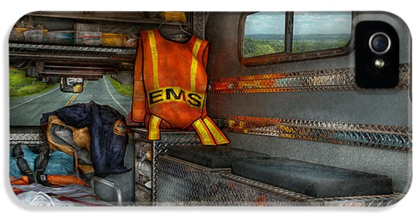 Rescue - Emergency Squad  IPhone 5 Case by Mike Savad