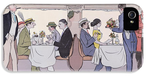 Restaurant Car In The Paris To Nice Train IPhone 5 Case