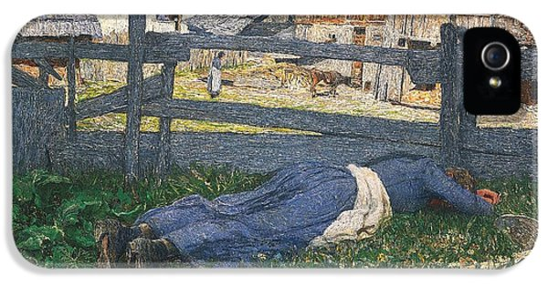 Resting In The Shade IPhone 5 Case by Giovanni Segantini