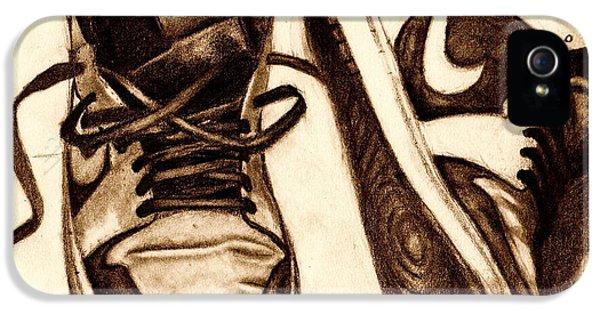 Michael Jordan iPhone 5 Cases - Retro 1 iPhone 5 Case by Dallas Roquemore
