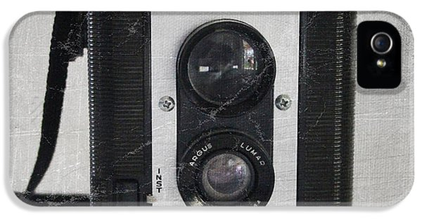 White iPhone 5 Case - Retro Camera by Linda Woods