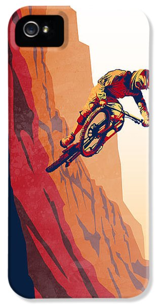 Bull iPhone 5 Case - Retro Cycling Fine Art Poster Good To The Last Drop by Sassan Filsoof