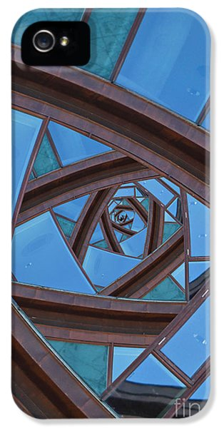 IPhone 5 Case featuring the photograph Revolving Blues. by Clare Bambers