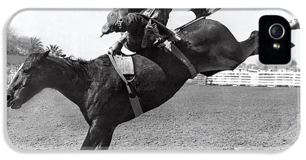 Riding A Bucking Bronco IPhone 5 Case by Underwood Archives