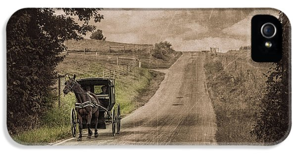 Riding Down A Country Road IPhone 5 Case by Tom Mc Nemar