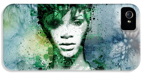 Rihanna 4 IPhone 5 Case by Bekim Art