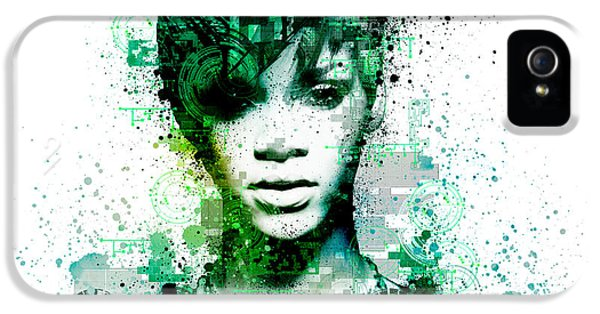 Rihanna 5 IPhone 5 Case by Bekim Art