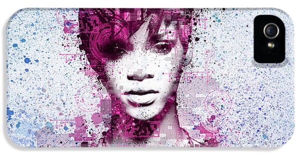 Rihanna 8 IPhone 5 Case by Bekim Art