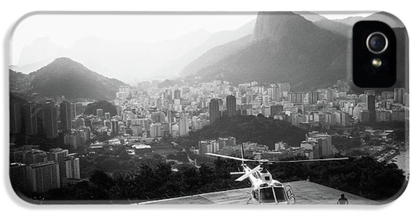 Helicopter iPhone 5 Case - Rio by Marco Virgone