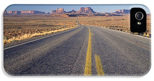 Road Through Monument Valley, Utah IPhone 5 Case by Panoramic Images