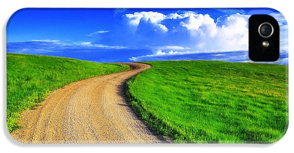 Rural Scenes iPhone 5 Case - Road To Heaven by Kadek Susanto