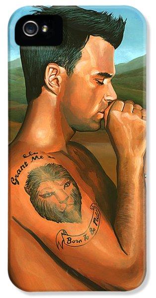 Robbie Williams 2 IPhone 5 Case by Paul Meijering