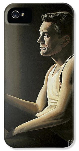 Robert De Niro IPhone 5 Case by Paul Meijering