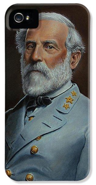 Gettysburg iPhone 5 Case - Robert E. Lee by Glenn Beasley