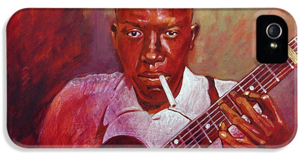 Robert Johnson Photo Booth Portrait IPhone 5 / 5s Case by David Lloyd Glover