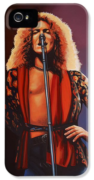 Robert Plant Of Led Zeppelin IPhone 5 / 5s Case by Paul Meijering