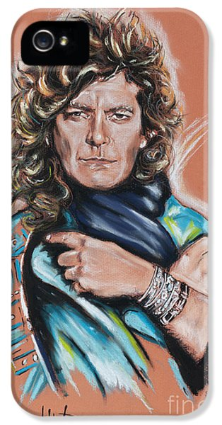 Robert Plant IPhone 5 Case by Melanie D