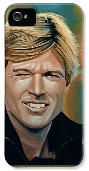 Robert Redford IPhone 5 Case by Paul Meijering
