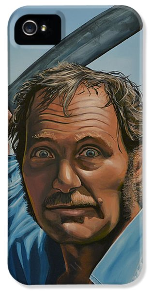 Robert Shaw In Jaws IPhone 5 Case by Paul Meijering