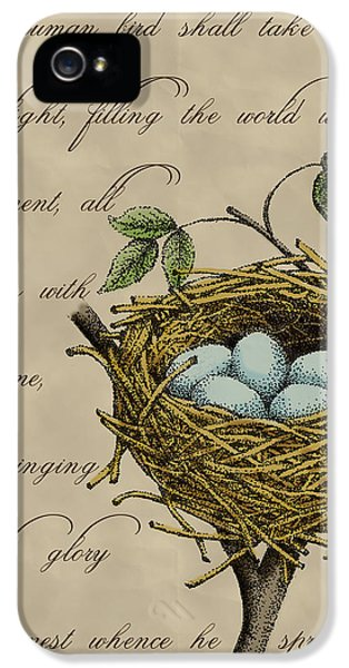 Robin's Nest IPhone 5 Case by Christy Beckwith