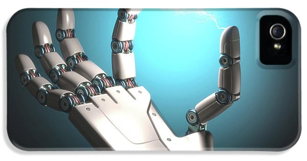 Robot Hand With Electric Connection IPhone 5 Case by Ktsdesign
