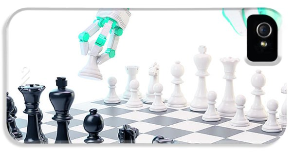 Robotic Arm Playing Chess IPhone 5 Case