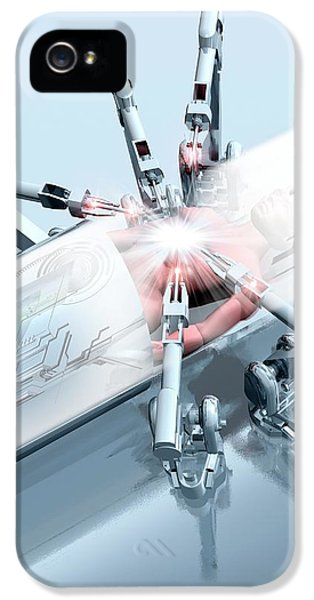 Robotic Arms Operating On A Patient IPhone 5 Case