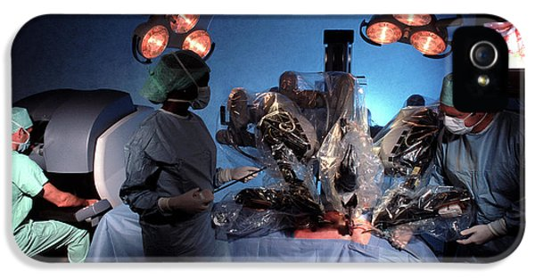 Robotic Heart Surgery IPhone 5 Case by Pascal Goetgheluck