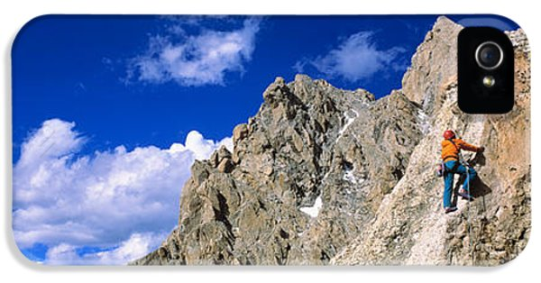 Rock Climber Grand Teton National Park IPhone 5 Case by Panoramic Images