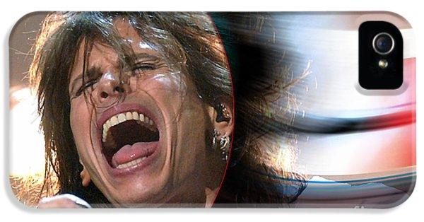 Rock N Roll Steven Tyler IPhone 5 Case by Marvin Blaine