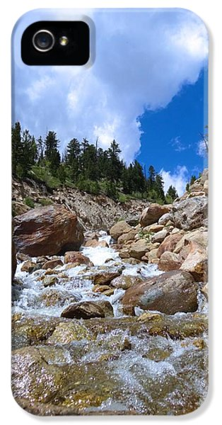 Breathe iPhone 5 Case - Rocky Mountain Falls by Dan Sproul