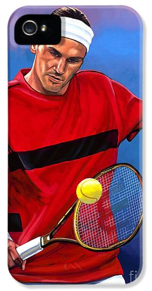 Roger Federer The Swiss Maestro IPhone 5 / 5s Case by Paul Meijering