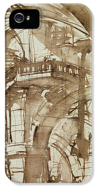 Dungeon iPhone 5 Case - Roman Prison by Giovanni Battista Piranesi