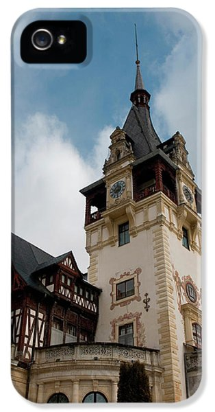 Romania Transylvania Sinaia Peles Castle IPhone 5 Case by Inger Hogstrom