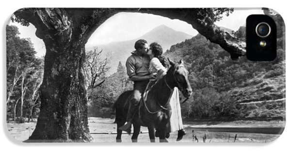 Romantic Kiss On Horseback IPhone 5 Case by Underwood Archives