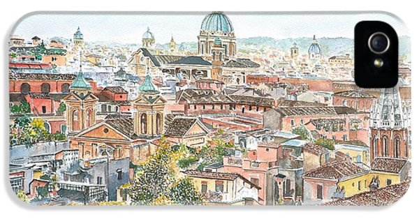 Rome Overview From The Borghese Gardens IPhone 5 Case by Anthony Butera