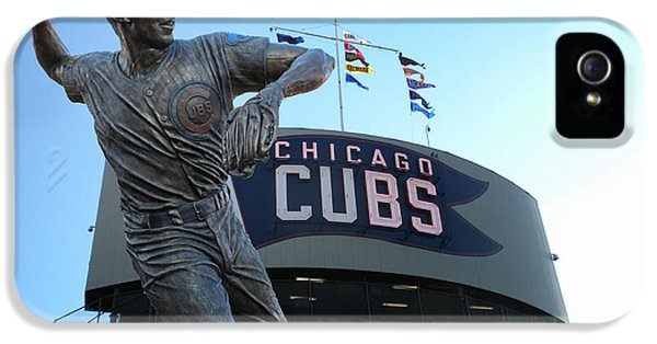 Ron Santo Chicago Cubs Statue IPhone 5 Case by Thomas Woolworth