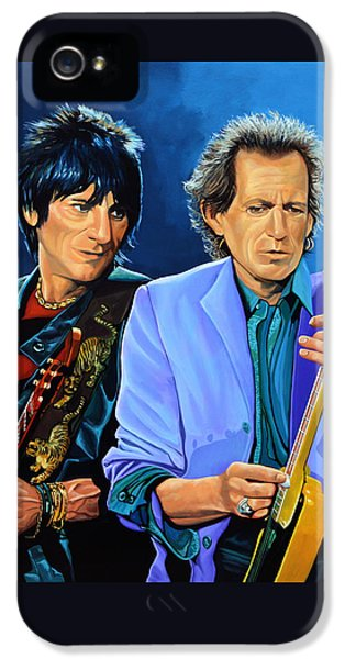 Rolling Stone Magazine iPhone 5 Case - Ron Wood And Keith Richards by Paul Meijering