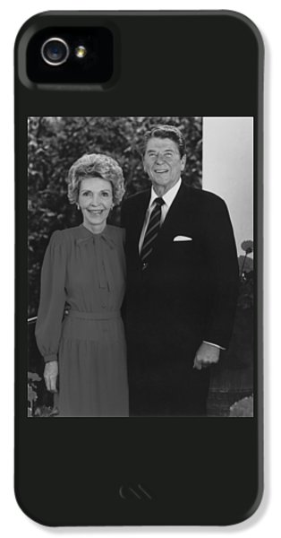 Ronald And Nancy Reagan IPhone 5 Case by War Is Hell Store