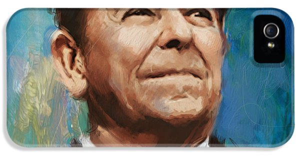 Ronald Reagan Portrait 6 IPhone 5 Case by Corporate Art Task Force
