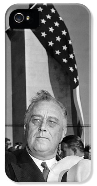 Roosevelt At Gettysburg IPhone 5 Case by Underwood Archives