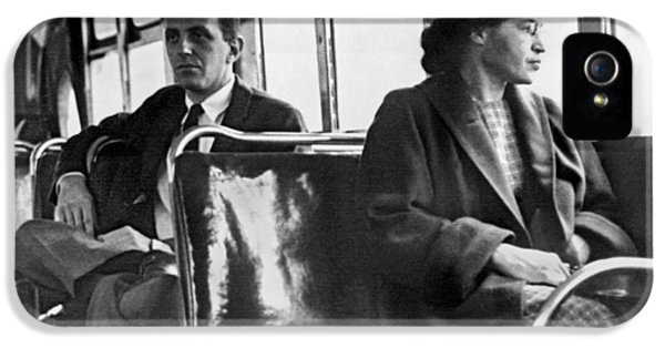 Rosa Parks On Bus IPhone 5 Case by Underwood Archives