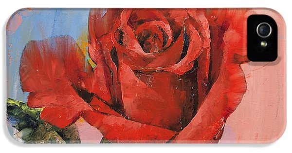 Rose Painting IPhone 5 Case by Michael Creese