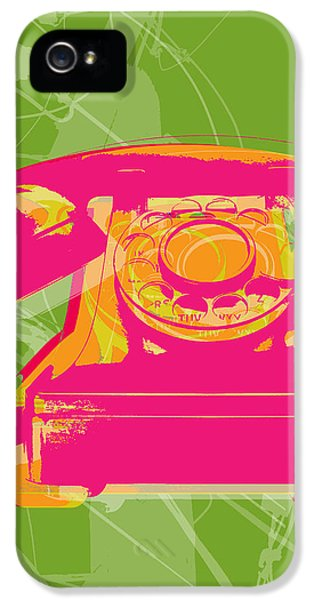 Rotary Phone IPhone 5 Case by Jean luc Comperat