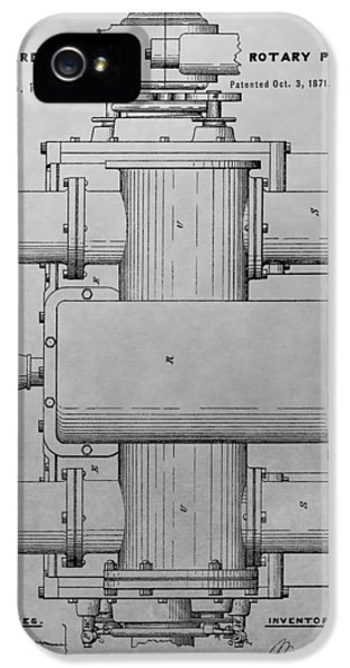 Rotary Pump Patent Drawing IPhone 5 Case
